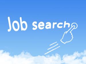 job search message cloud shape